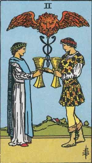 タロットのカップ2の意味(正位置・逆位置・恋愛・アドバイス)
